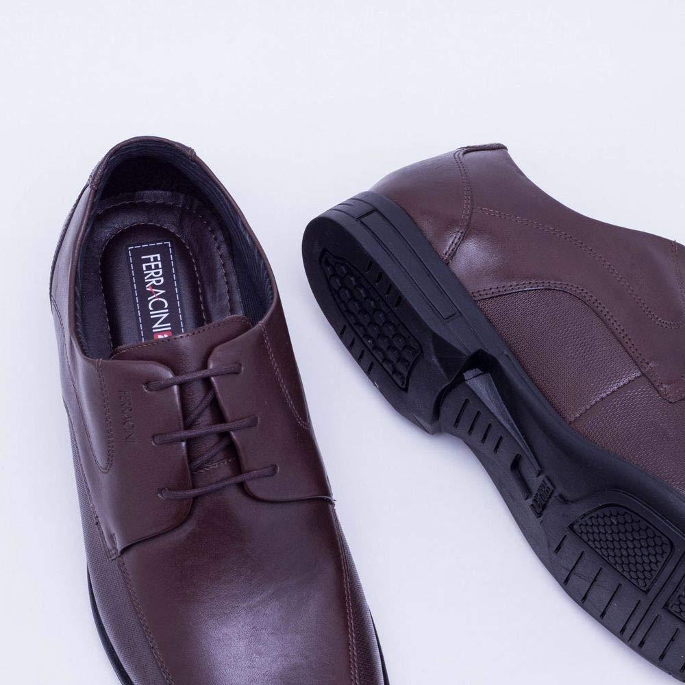 4270255553 Sapato Social Ferracini Bristol Marrom Masculino 43  Amazon.com.br  Amazon  Moda