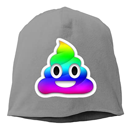 a16fea4780e0f Amazon.com   Rainbow Smiling Poop Emoji Unisex Warm Winter Hat Knit Skull  Beanie Slouchy Beanie Hat Cap DeepHeather   Sports   Outdoors