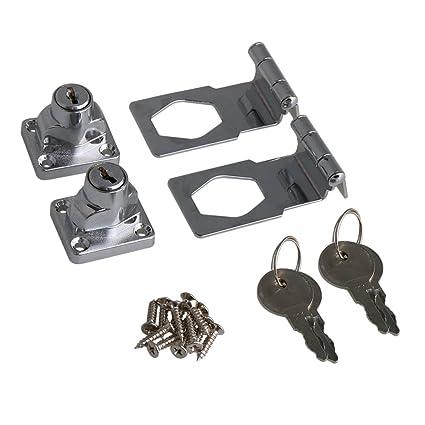 rdexp 2 5 inch length zinc alloy 90 degrees keyed hasp lock twist rh amazon com
