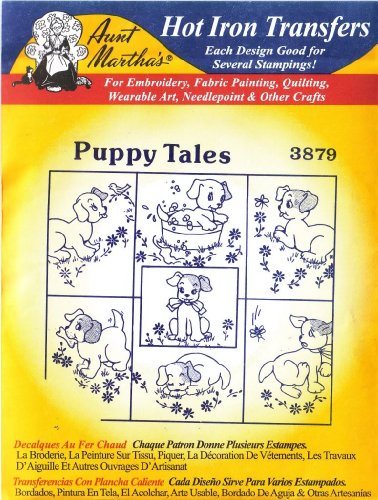 Puppy Aunt Marthas Embroidery Transfer product image