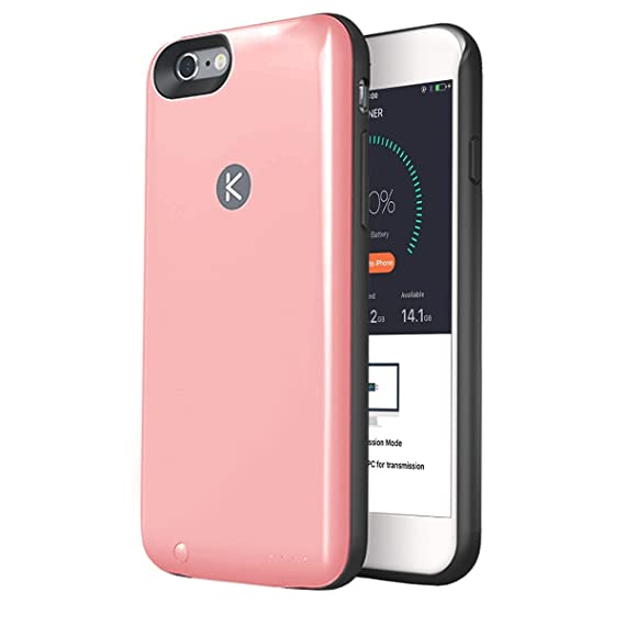 check out a83fd 9f2eb Amazon.com: KUNER Battery Case for iPhone 6/6s (2,400mAh) with Built ...
