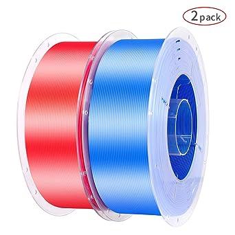 Creality - Filamento para impresora 3D, seda, color rojo y azul ...