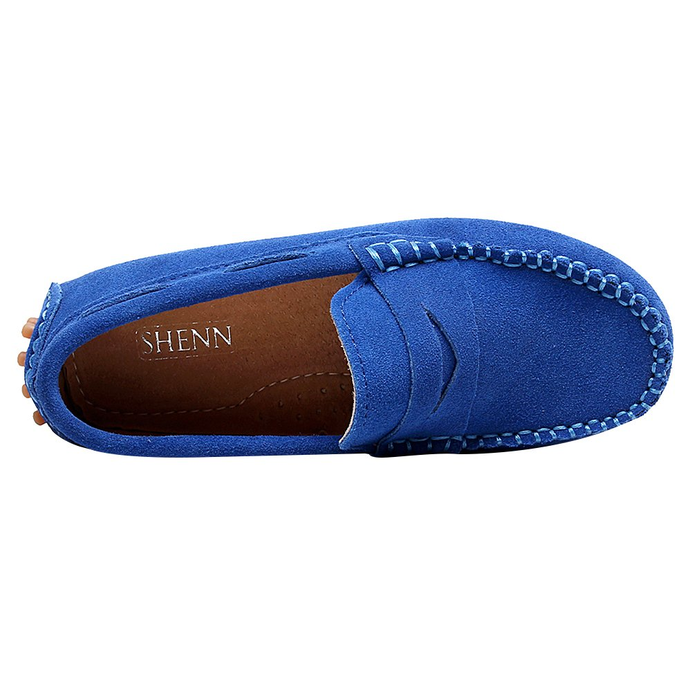 482726a5c07 Shenn Boys  Cute Slip-On Suede Leather Loafers Shoes S8884 larger image