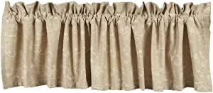 Home collection by Raghu Candlewicking Valance, 72 by 15.5-Inch, Taupe