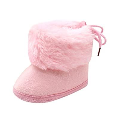 Baby Girls Boys Soft Booties Snow Boots Infant Toddler Newborn Crib Shoes 0-12M