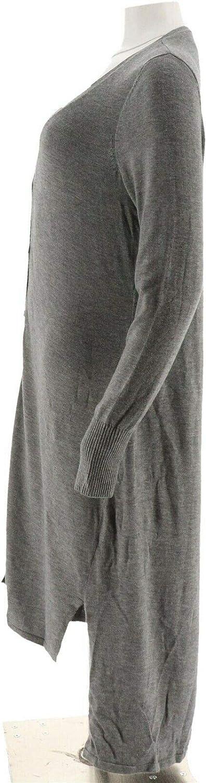 Halston Petite V-Neck Button Long Cardigan A269210