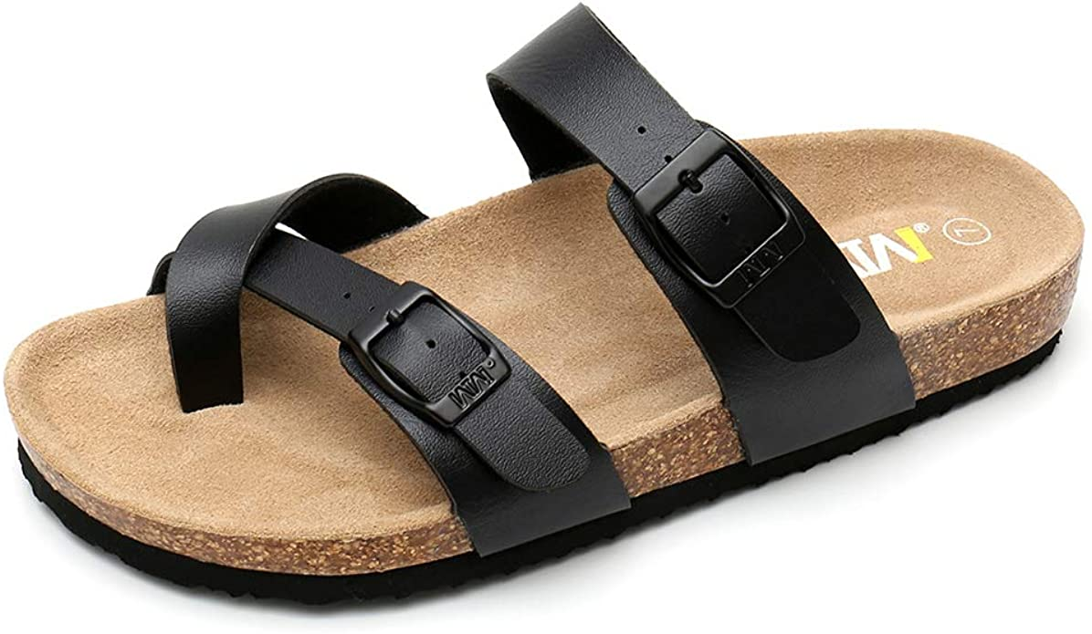 Women's Slide Flat Cork Sandals with