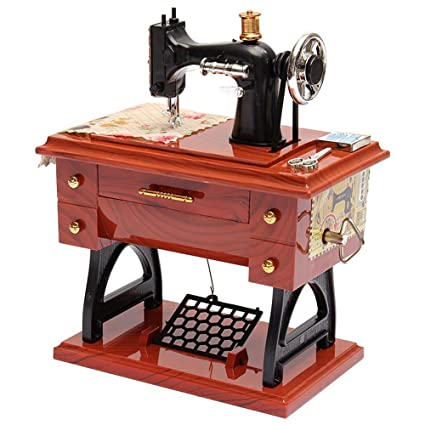 Amazon TonTech Newest Christmas Gift Retro Musical Sewing Inspiration New Hand Crank Sewing Machine