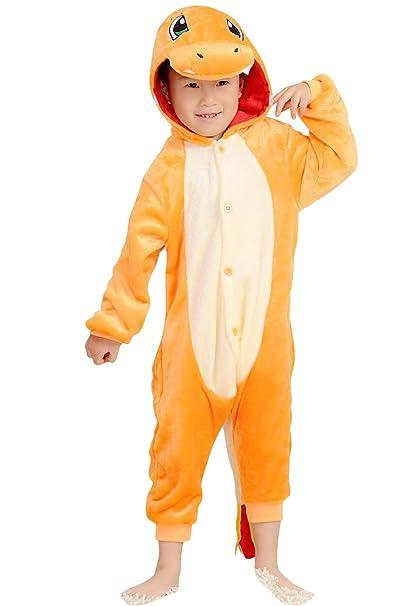 YAOMEI Niños Unisexo Onesies Kigurumi Pijamas, 2018 Niña Traje Disfraz Animal Pyjamas, Ropa de