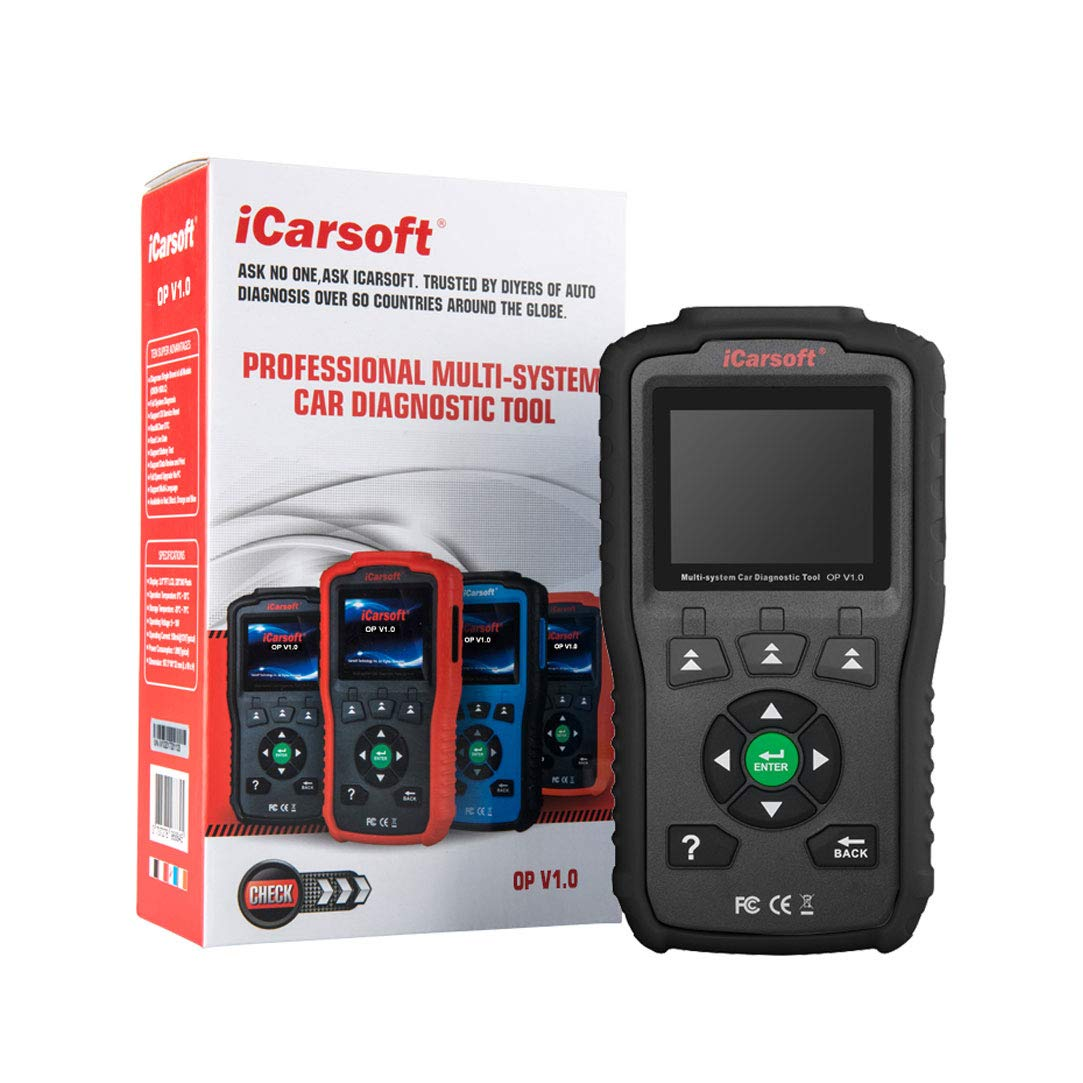 iCarsoft Multi-System Auto Diagnostic Tool OP V1.0 Opel Oil Reset (Black) by iCarsoft (Image #6)