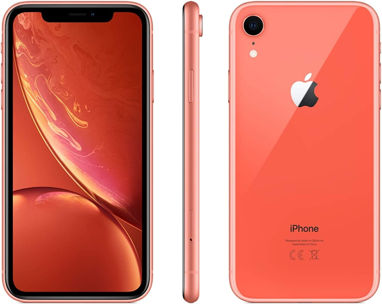 Apple iPhone XR, Sprint, 64GB - Coral (Renewed)