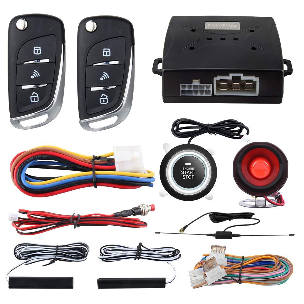 EASYGUARD EC003N-V Car Security Alarm System PKE Passive keyless Entry Remote Engine Start Stop keyless go System DC12V by EASYGUARD