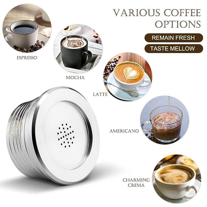 Godyluck Cápsulas de café Reutilizables de Acero Inoxidable Filtro ...