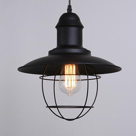 Colgante de luz / Lámpara de techo de hierro forjado ...