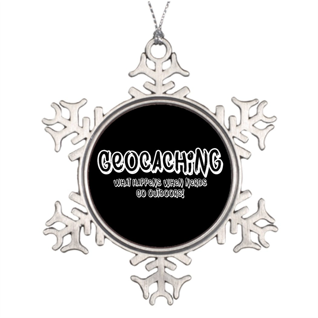 Tlbfresapo6 Personalized Family Christmas Snowflake Ornaments Geocaching W Happens When Nerds Go Outdoors Home Christmas Decorations Geocache