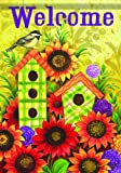 Fall Birdhouse Welcome Harvest Sunflower Thanksgiving Double Sided House Flag 28 x 40 Review