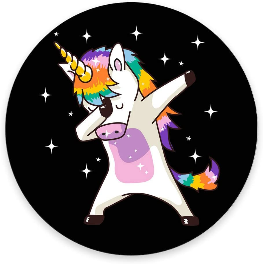 "Unicorn Cute Dabbing Mouse Pad Funny Dab Dance Gift Round Mouse pad 7.87"" X 7.87"" 20CM"