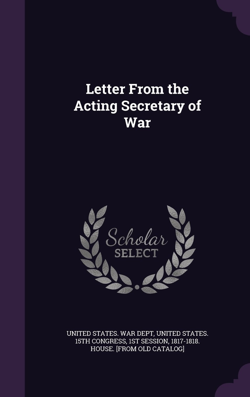 Download Letter from the Acting Secretary of War ebook
