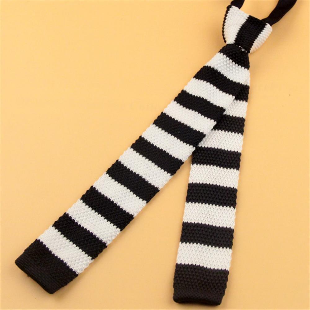 Moda para ni?os que hacen punto de la raya corbata tejida hecha a ...