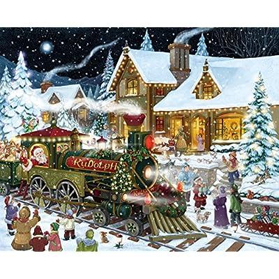 Santa's Express Christmas Jigsaw Puzzle 1000 Piece: Toys & Games