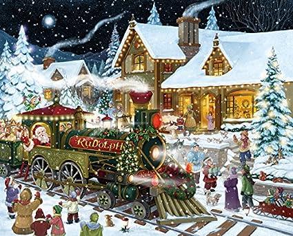 Christmas Jigsaw Puzzles.Santa S Express Christmas Jigsaw Puzzle 1000 Piece