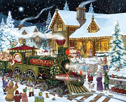amazoncom santas express christmas jigsaw puzzle 1000 piece toys games