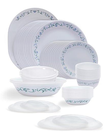 buy corelle livingware country cottage glass dinner set 57 pieces rh amazon in corelle livingware country cottage 18-piece corelle livingware country cottage glasses