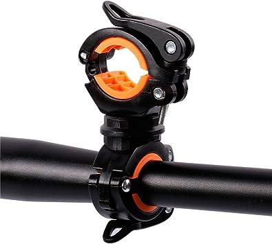 360 ° Rotating Bike Light Clip Rack Bicycle Flashlight rubber Torch Lamp Holder