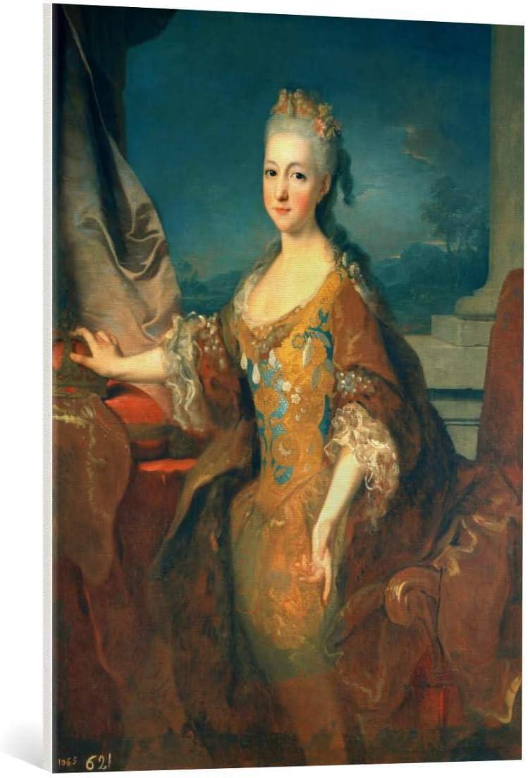 Kunst für Alle Cuadro en Lienzo: Jean Ranc Louise Elisabeth Von Spanien - Impresión artística, Lienzo en Bastidor, 65x85 cm