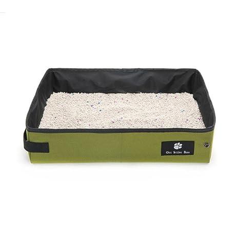 Arenero para gatos, portátil, caja de arena para gatos, plegable, impermeable,