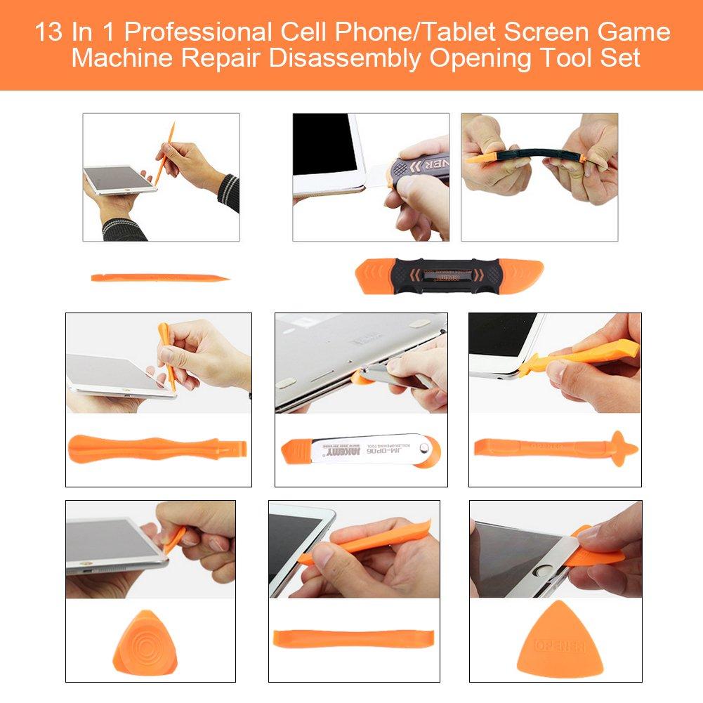 Yosoo Set de 13 Kit d/'outils Outil de R/éparation Installation Outil Professionnel de D/émontage Ouverture en Plastique Pour Voiture Multim/édia DIY Ipad Iphone Tablettes Ordinateurs Portables
