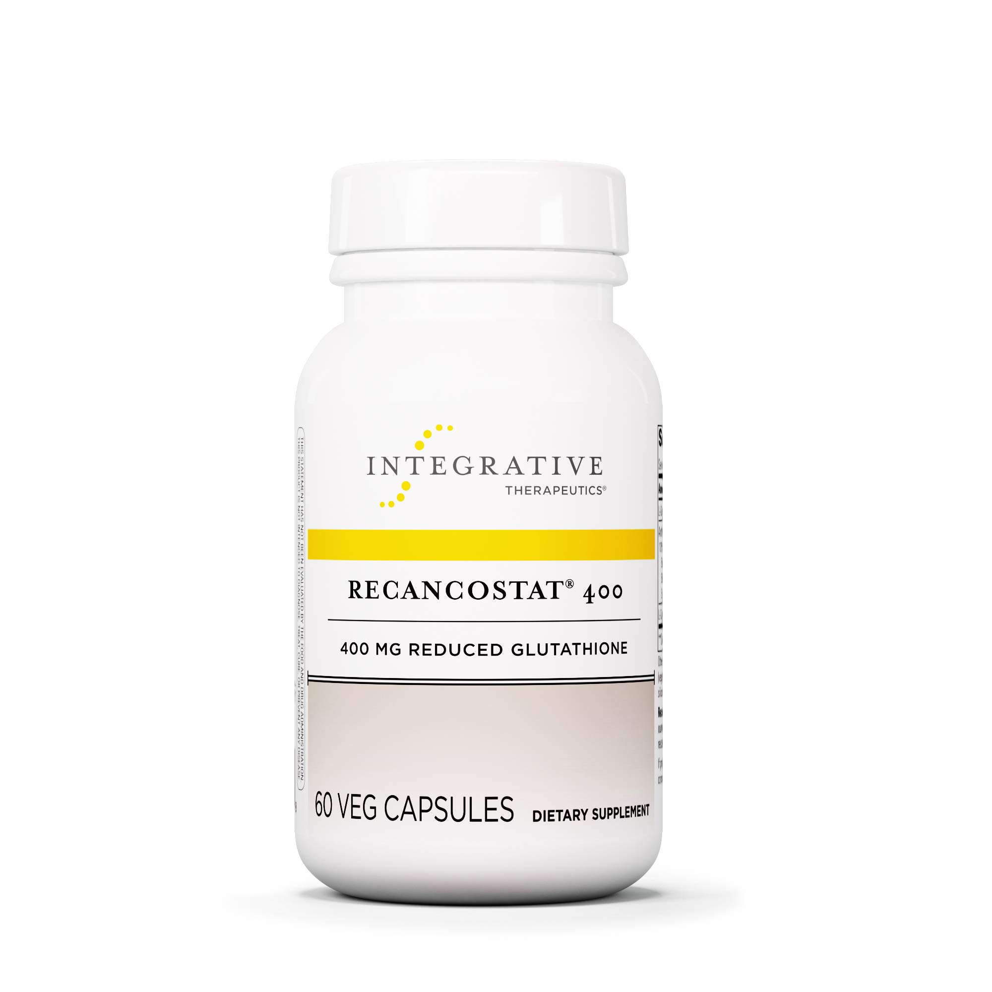 Integrative Therapeutics - Recancostat 400 - 400 mg Reduced Glutathione - With Anthocyanins & L-Cysteine to Support Healthy Cell Development - 60 Capsules