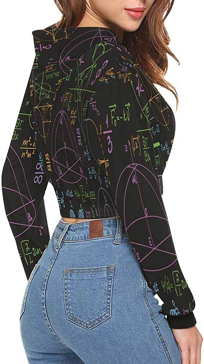 INTERESTPRINT Womens Long Sleeve Crop Top Sweatshirt Hoodies XS-2XL