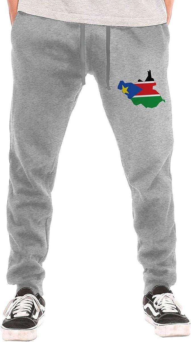 Dbou Colorado Flag Heart Logo Drawstring Waist,100/% Cotton,Elastic Waist Cuffed,Jogger Sweatpants Black