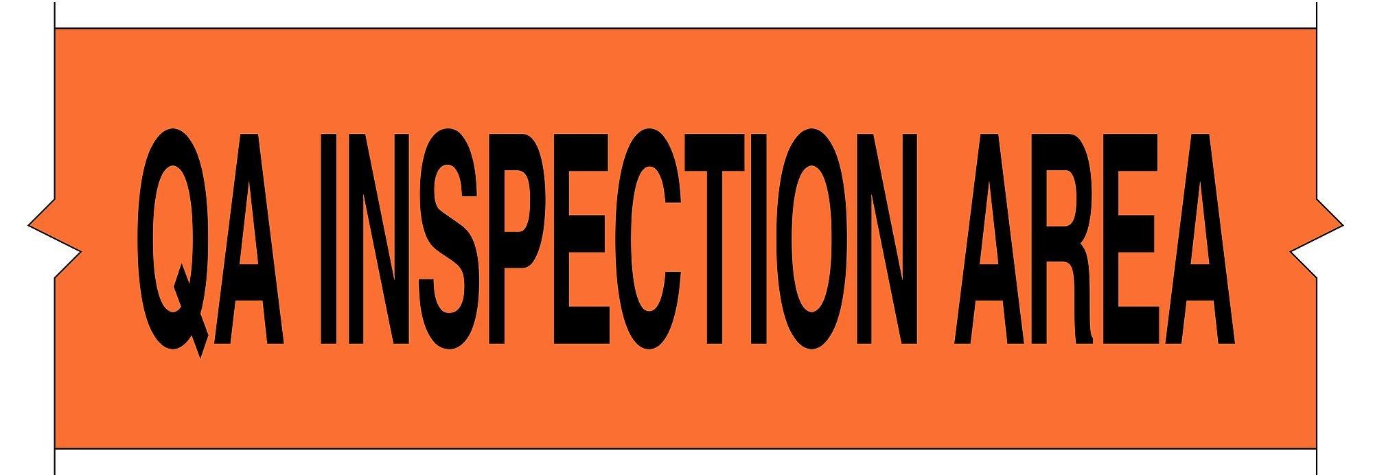 Brady 121366 Toughstripe QA Inspection Area, 4'' Height x 100' Length, Orange Floor Tape