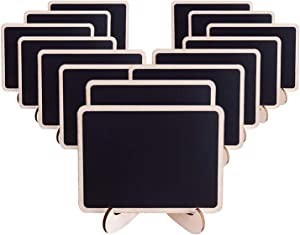 AUSTOR 14 PCS Mini Chalkboard Place Cards with Stand for Wedding, Parties, Table Top Numbers, Food Signs and Decorating Signs