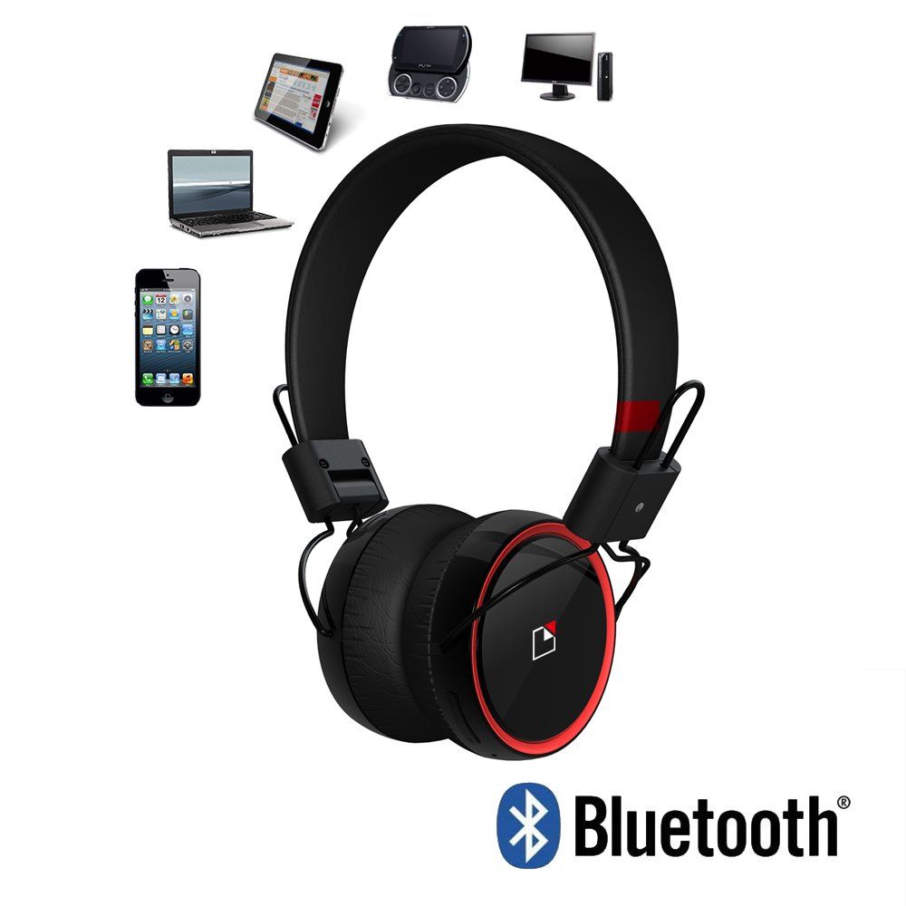 Whitelabel RaveTouch Over-Ear Bluetooth Headphone with Touch Control Rich Bass NFC Pairing Mic Hands Free calling (Black): Amazon.es: Electrónica