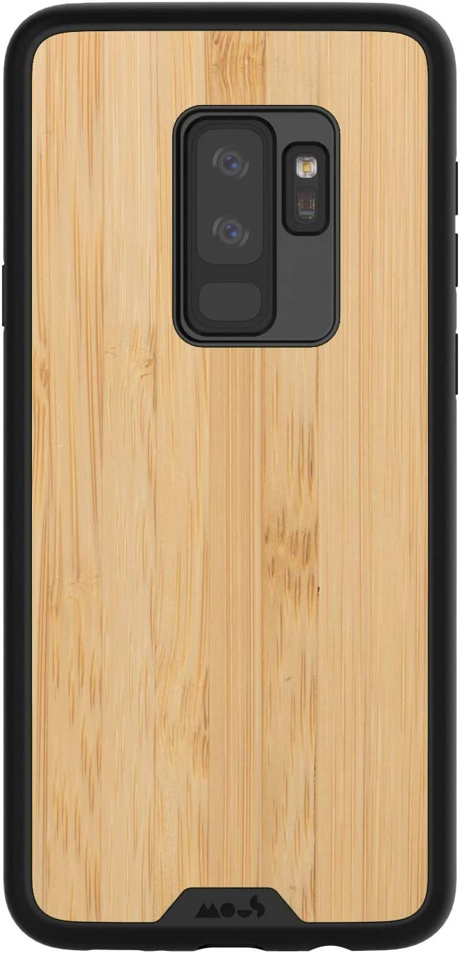 MOUS Protective Samsung Galaxy S9+ Plus Case - Real Bamboo Wood - Screen Protector Inc.