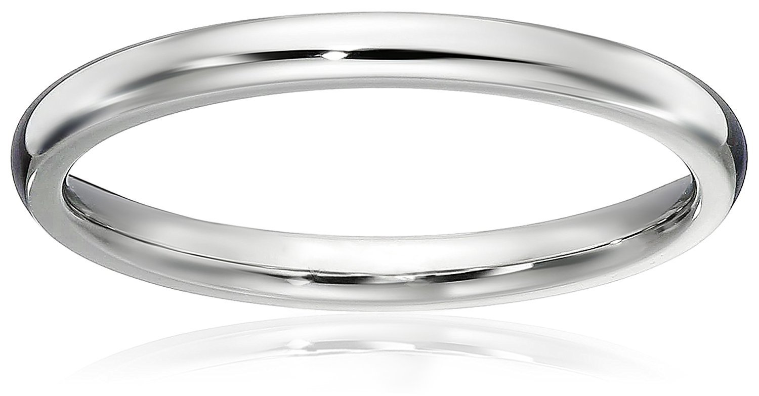 LOVE Beauties 1.5 MM Titanium Comfort Fit Wedding Band Ring Classy Domed Ring(Size Selectable) (9)