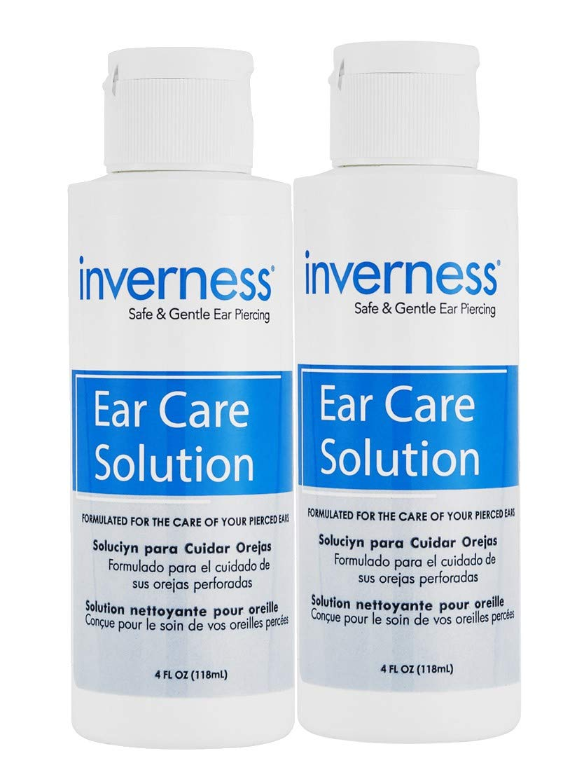 INVERNESS After Piercing Ear Care Solution 4 oz 2 pc Set