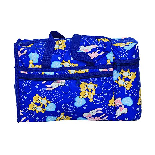 Kuber industrias comedero de bolsa de pañales, bolsa, bolsa de cambiar pañales, bolsa de la Mamma (Cutie Conejo Print- azul)