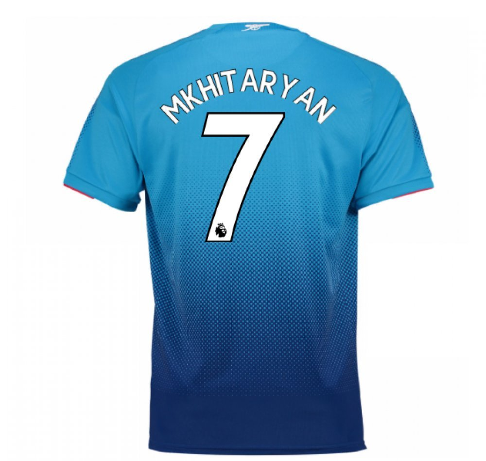 2017-2018 Arsenal Away Shirt (Mkhitaryan 7) Kids B079NSYVZS Medium Boys 26-28