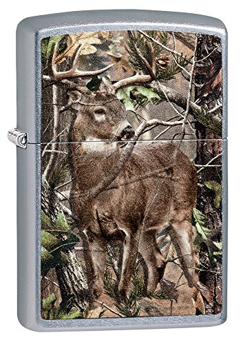 Lighter Chrome Pocket - Zippo Realtree Buck Street Chrome Pocket Lighter