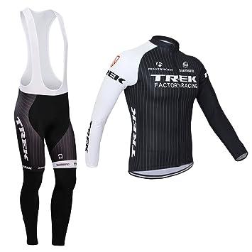Luckyspring Trek Factory Racing Mens MTB Cycling Long Sleeve Jersey and Bike  Bib Pants Tights Bicycle Set Suit  Amazon.ca  Sports   Outdoors e8f311e6e