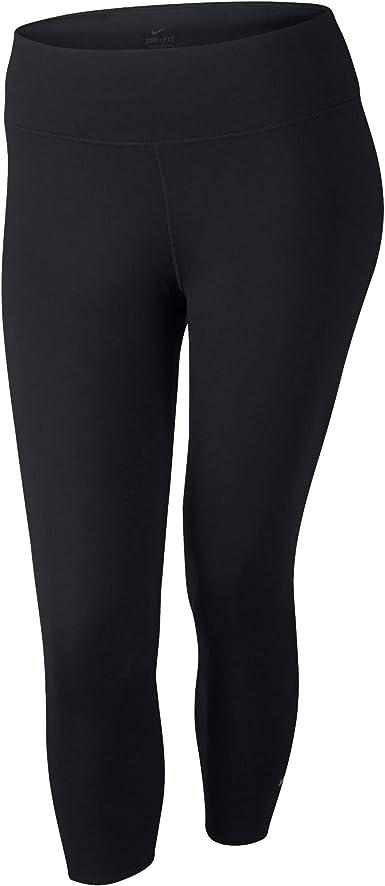 Amazon Com Nike Dry Women S Dri Fit Training Compression Pants Tights Tight Fit Black Plus Sizes Bv0735 010 1x Clothing