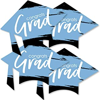 product image for Big Dot of Happiness Light Blue Grad - Best is Yet to Come - Grad Cap Decorations DIY Light Blue Party Essentials - Set of 20
