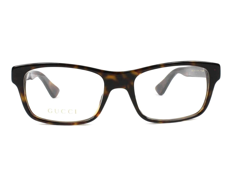 7e36334b41c Amazon.com  Eyeglasses Gucci GG 0006 O- 009 AVANA    Clothing