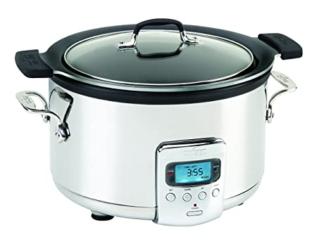 All-Clad SD712D51 4 quart Deluxe Slow Cooker Stainless Steel