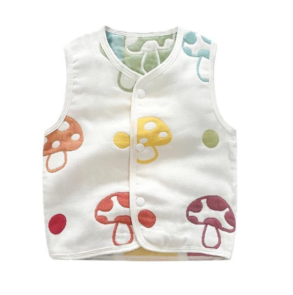Luyusbaby Infant Baby Outwear Vests Colorful Guaze Reversible Waistcoat 6-9 Months