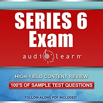 Amazon Com Series 6 Exam Audiolearn Complete Audio Review For The